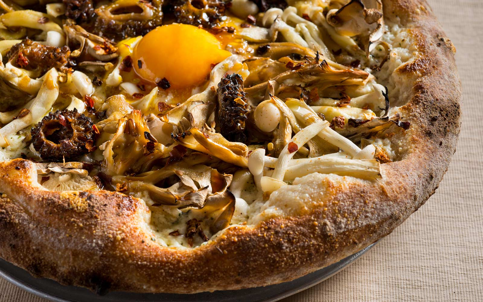 Mixed Wild Mushroom Pizza With Fried Eggs Jean Georges